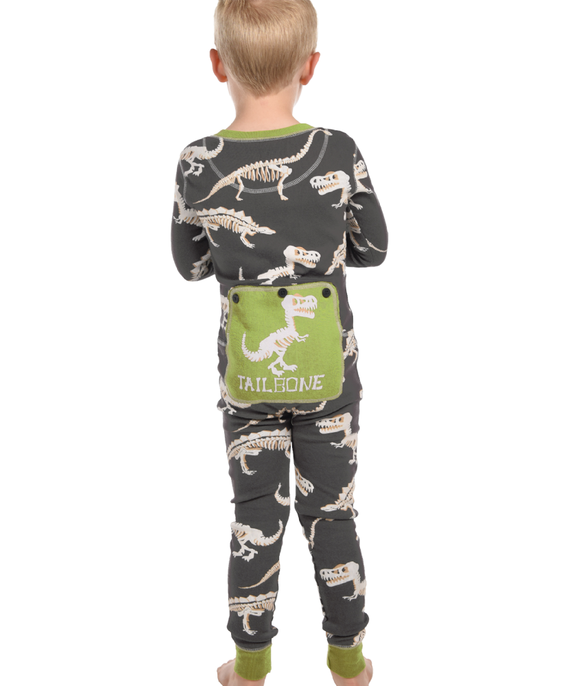 Tail Bone Dinosaur Flapjacks - Kids Onesie Pyjamas - LazyOne®